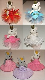angelina ballerina ballet dresses and 2 princess dresses.