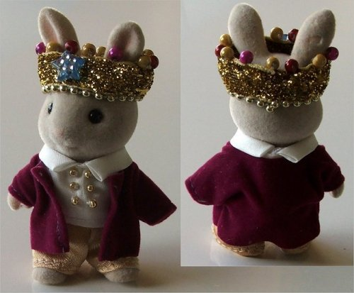 King outfit for child rabbit