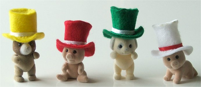 Thinking hats for Sylvanian Babies