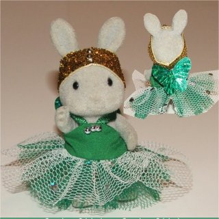 Christmas fairy green white sequins