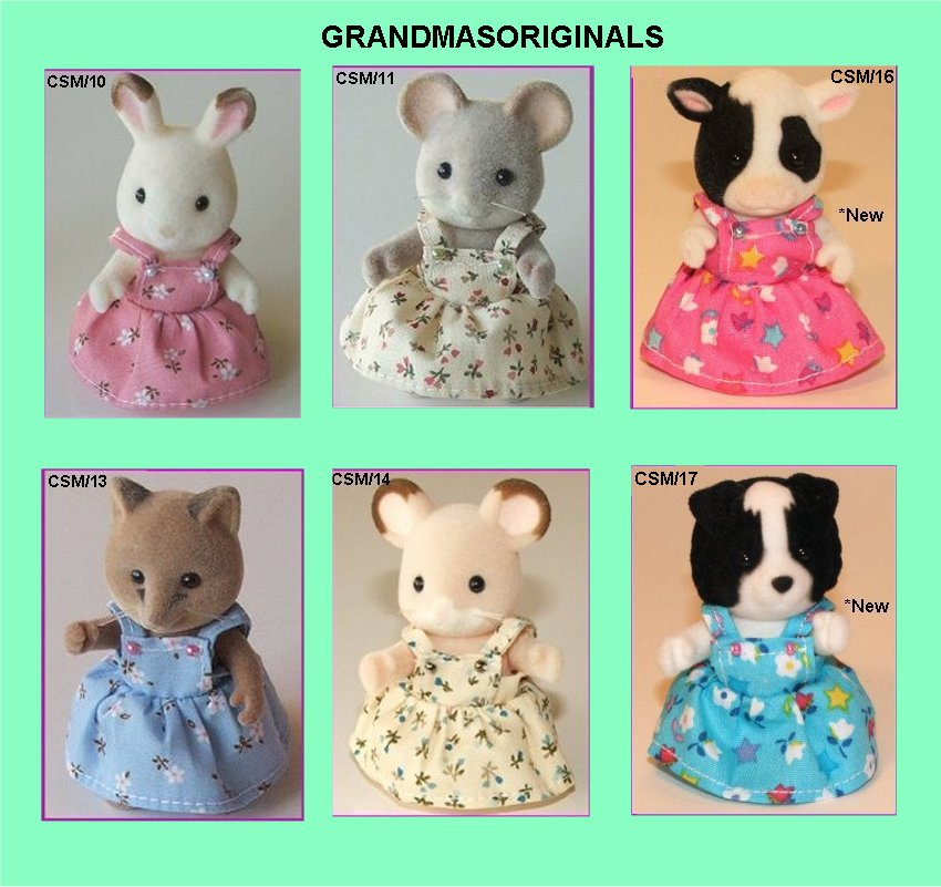 Pinafore dresses for child/small mum