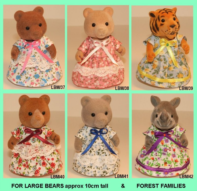Dresses for large bear approx 10cm tall