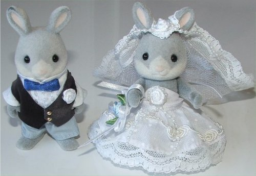 Rabbit bride & groom
